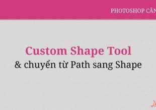 Custom Shape Và Chuyển Path Thành Shape