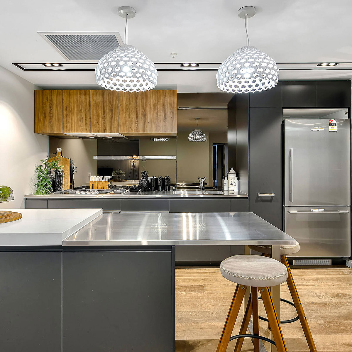 Kitchen Counter And Stools 84 Stainless Steel Countertop Ideas Photos Pros Cons
