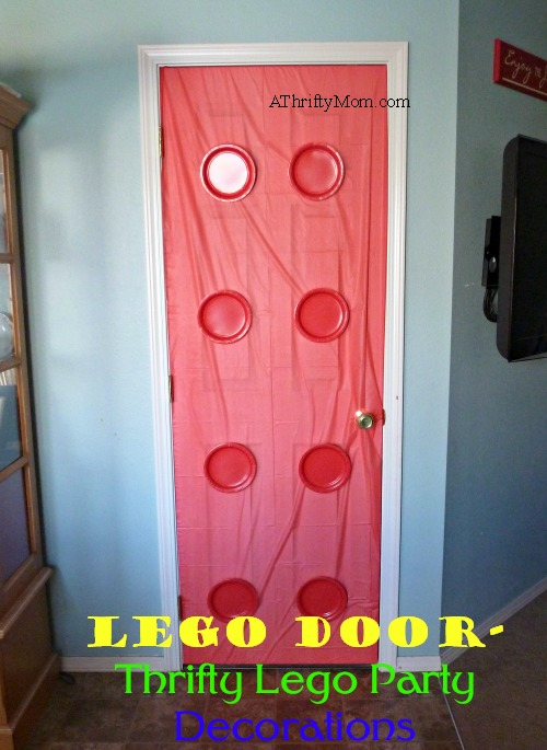 Lego Minifigure Balloons, Thrifty Lego Party Decorations