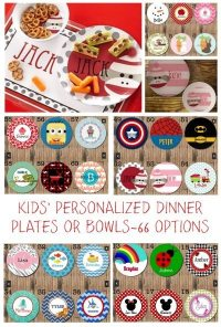 Kids Personalized Dinner Plates or Bowls, 66 options ~ 41% ...