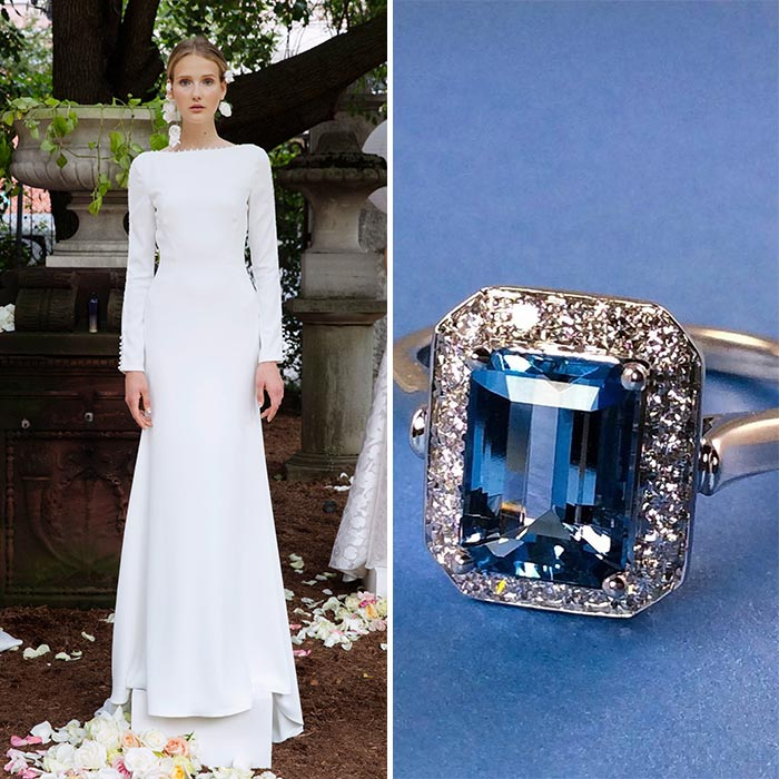 9 Perfect Engagement Rings To Complement This Season's Wedding Dress Trends