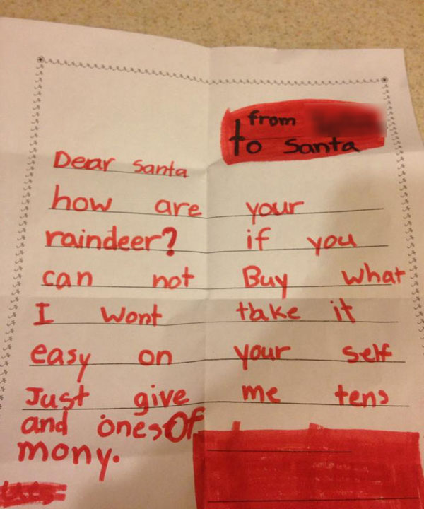 Funniest Christmas Letters to Santa Ever