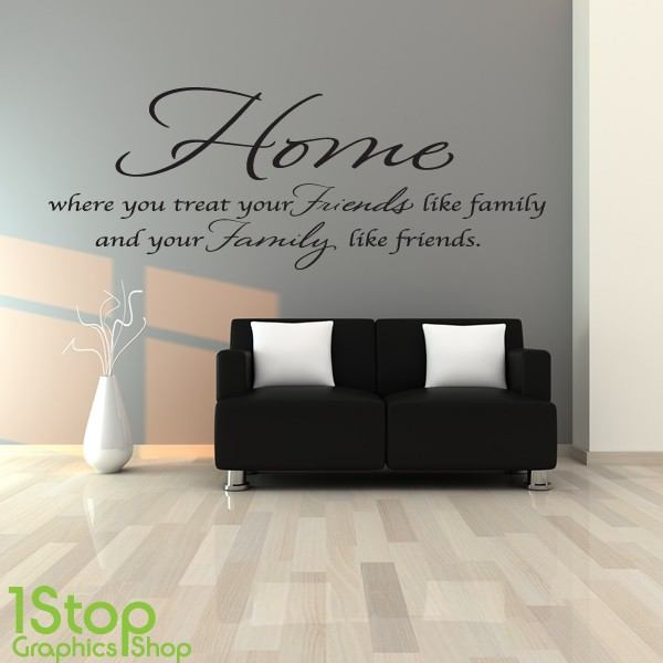 home friends family wall sticker bedroom lounge kitchen wall art kitchen wall stickers interior designs architectures ideas