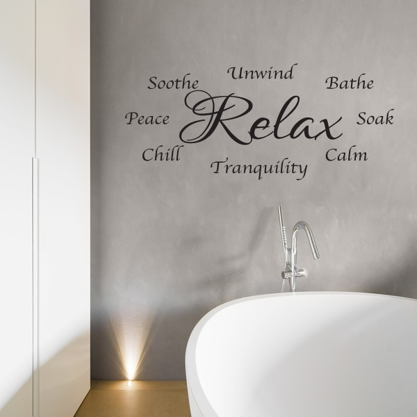 bathroom wall sticker relax unwind wall art words love decal time bathroom vinyl wall art stickers wall decal wall quote art ebay