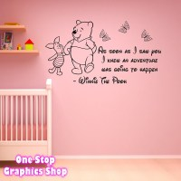 WINNIE THE POOH WALL STICKER 3 - GIRLS BOYS BABY BEDROOM ...