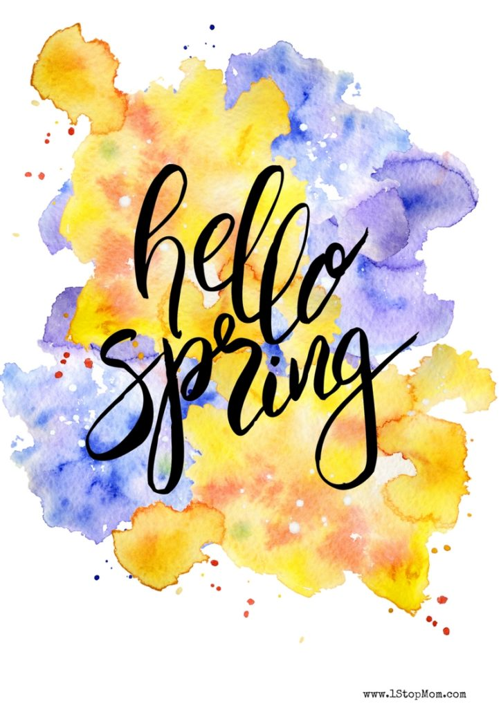 1StopMom - Free Hello Spring Printables 1StopMom
