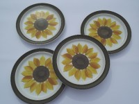 Mexicali sunflower dinner plates, vintage Electra Japan ...