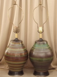 Mid-century modern ceramic lamps, 50s 60s retro danish mod ...