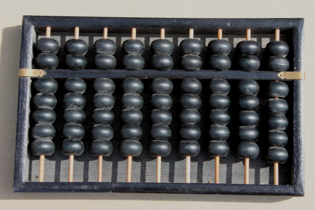 Small Modern Kitchen Vintage Chinese Abacus, Small Wooden Abacus Counting Frame