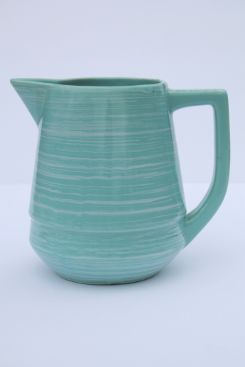 Retro Vintage Lighting Vintage Esmond Pottery Milk Pitcher, Turquoise Blue Green