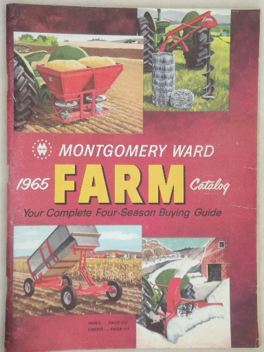 Retro Vintage Lighting Vintage Farm Catalogs Lot, Montgomery Wards Books From