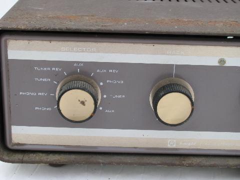 Vintage Knight Model Ka 25 Vacuum Tube Stereo Amplifier
