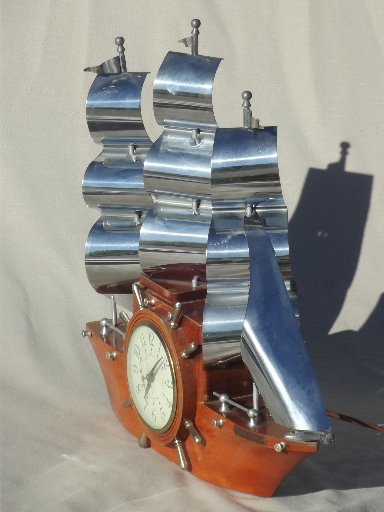 Kitchen No 6 Hull Vintage Sessions Ship Clock, Old Yankee Clipper Ship