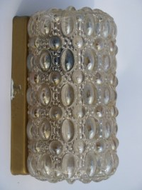 Vintage wall sconce lighting fixtures w/iridescent bubble ...