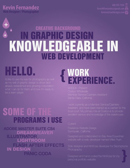 40 Truly Creative Resume Designs for Inspiration - web design resume