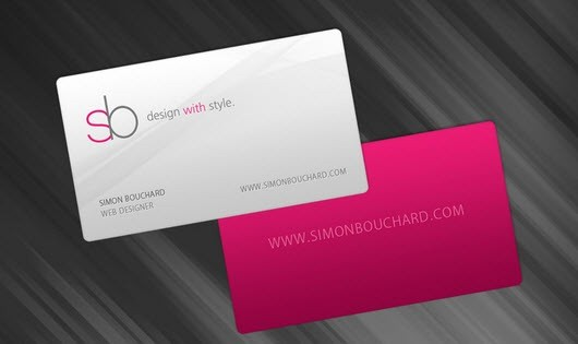 100+ Beautiful, Creative and Minimal Business Cards - web designer business card