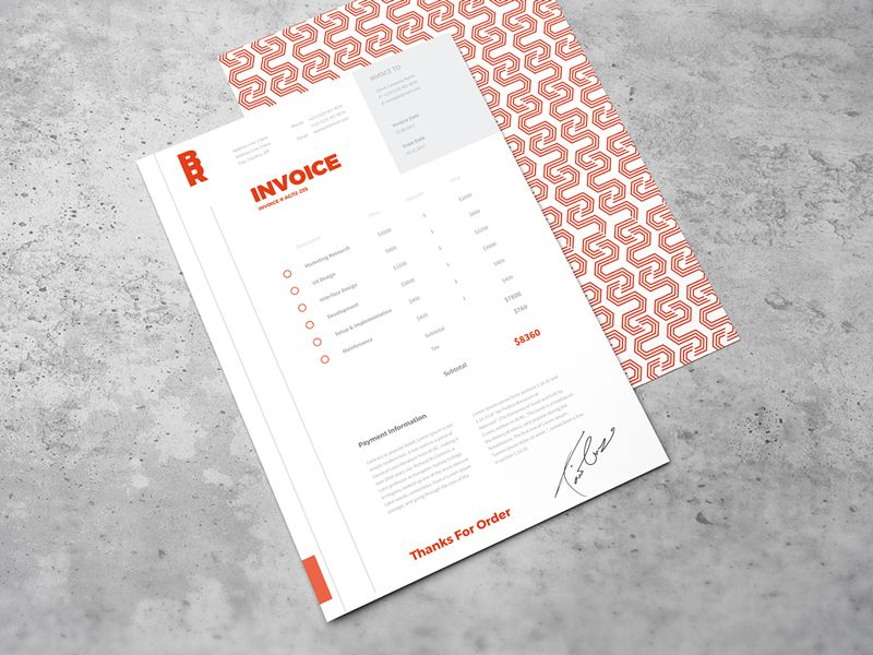 10 Free Invoice Templates for Creatives - 1stWebDesigner