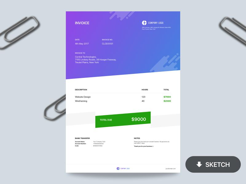 10 Free Invoice Templates for Creatives - 1stWebDesigner - free downloadable invoices
