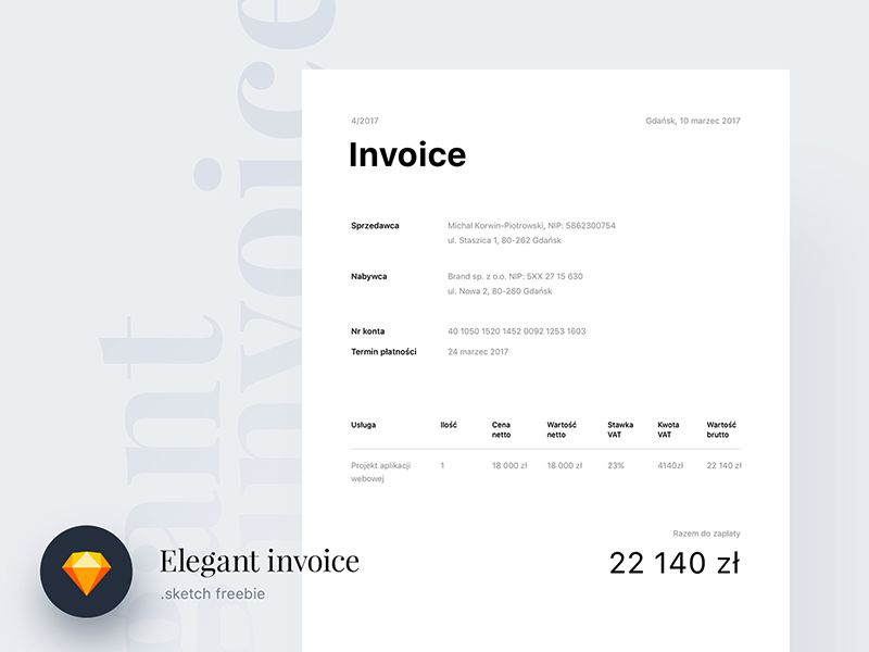10 Free Invoice Templates for Creatives - 1stWebDesigner - invoice templates
