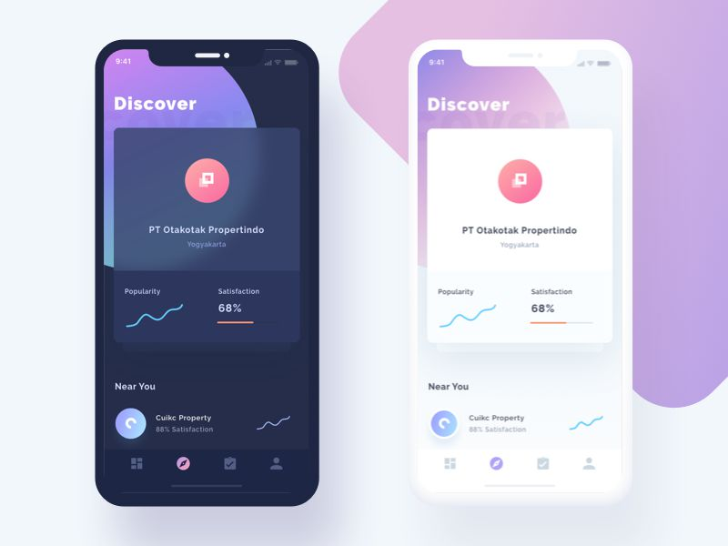 Beautiful Examples of Graphical Backgrounds in Mobile App Design