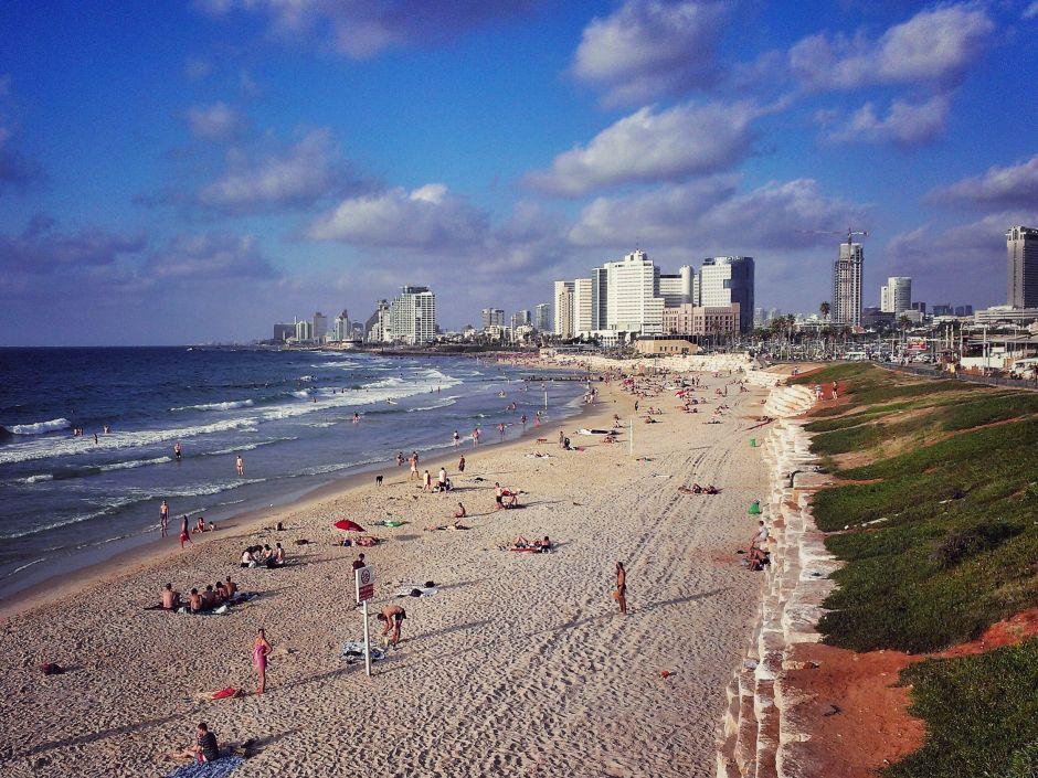 Tel Aviv Skyline Strand