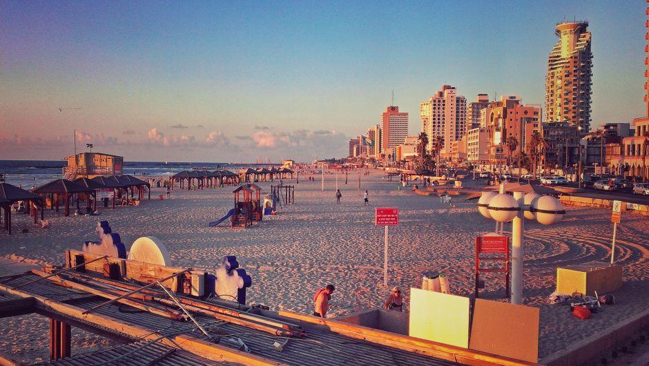 Sonnenuntergang Tel Aviv Strand