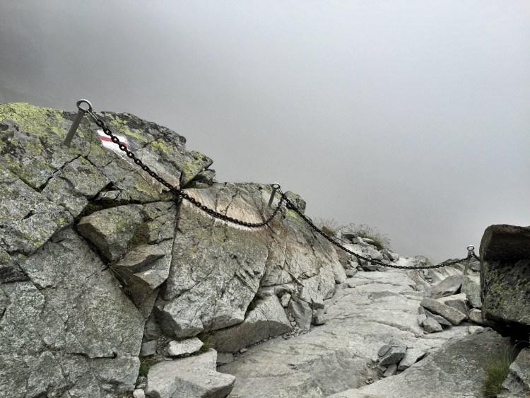 Hohe Tatra Rysy, Abgrund Wanderung