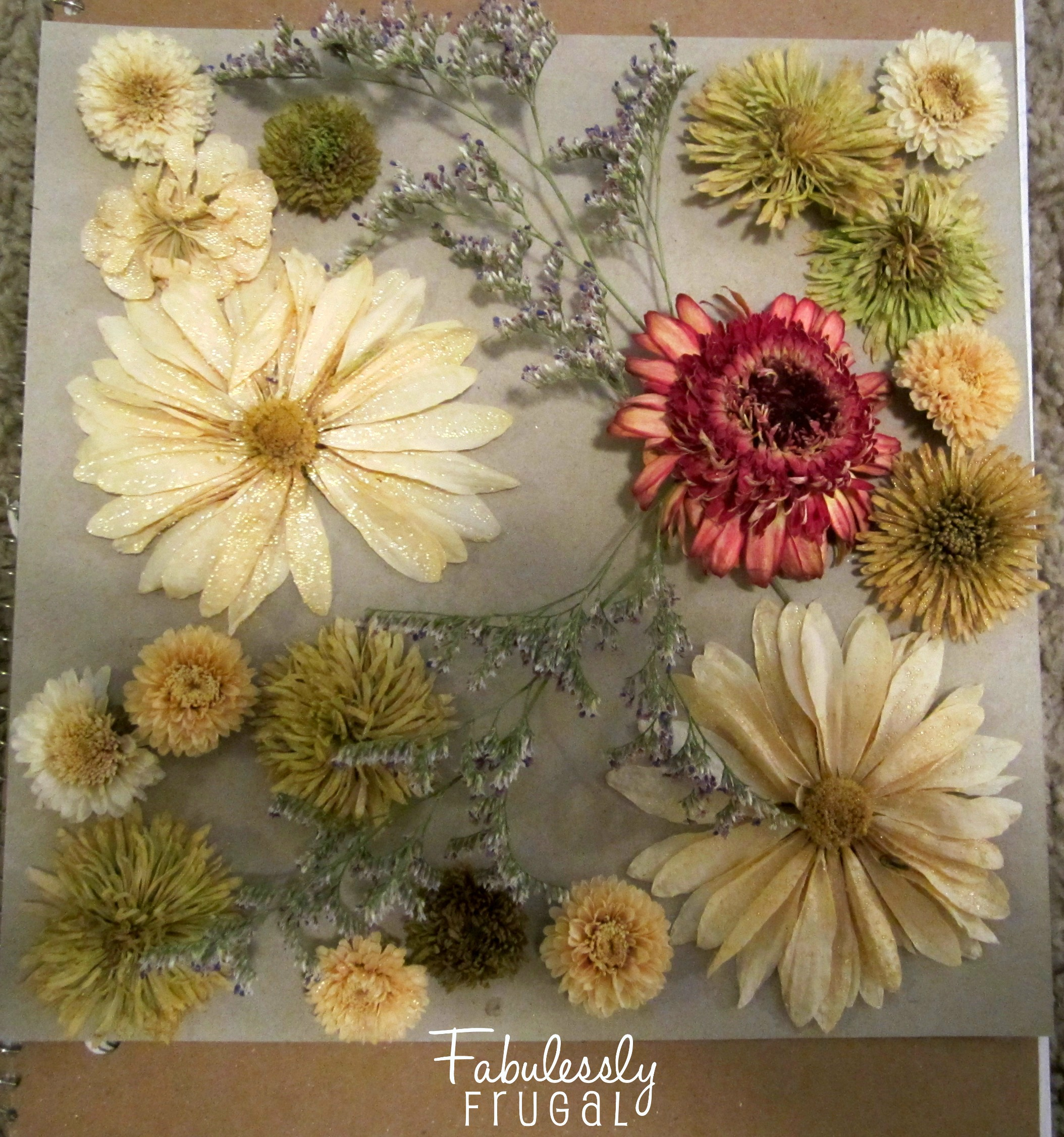 Do a dry fit layout of the flowers before beginning to glue make sure the flowers are not placed too close to the edge of the backing otherwise they will