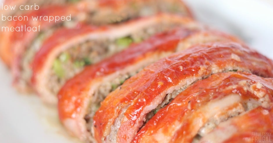 Keto Bacon Wrapped Meatloaf Recipe - Fabulessly Frugal
