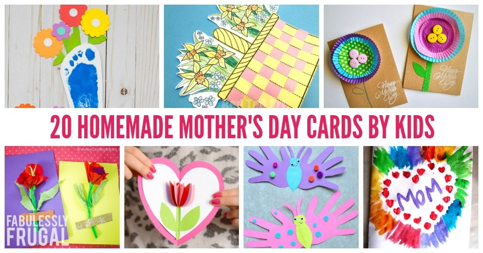 20 Easy Homemade Mother\u0027s Day Card Ideas for Kids - Fabulessly Frugal