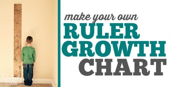 Giant DIY Growth Chart Ruler Tutorial - Fabulessly Frugal
