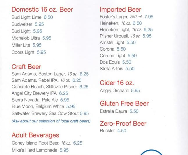 Carnival Cruise Full Beer Menu (With Prices) Cruzely