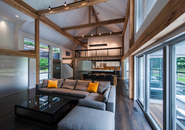 east hampton home takes modern approach main architecture leatherette brushed stainless steel modern armchairs accent chairs