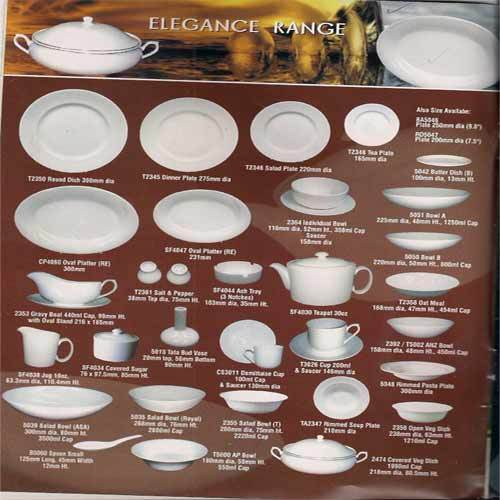 Wholesale Company Names In India Bone China Crockery Elegance Range South India