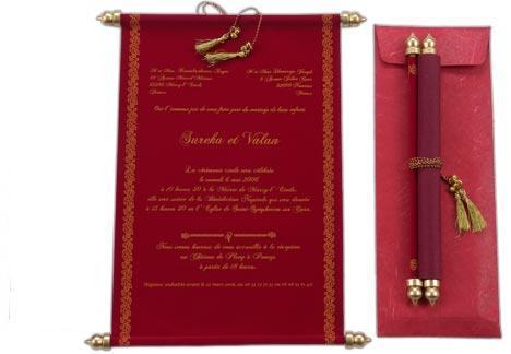Scroll Wedding Invitations at Rs 68 /piece(s) Andheri West