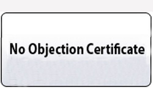 certificate of no objection