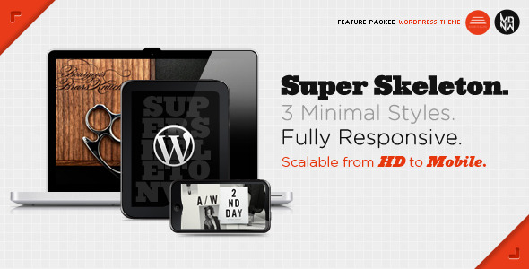 00 Super Skeleton Responsive WordPress 10 Classy Magazine Themes for Wordpress
