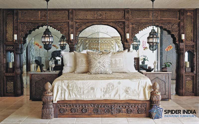Antique Vintage Bedsindian Low Pillar Bed Manufacturers