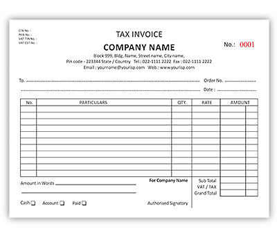 invoice book printing online - Footfreedomtraining - print invoice