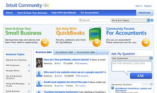 Screenshot: Intuit's Customer Community