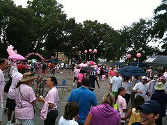 Walk for Cancer - it's raining!