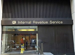 Exterior of the Internal Revenue Service offic...