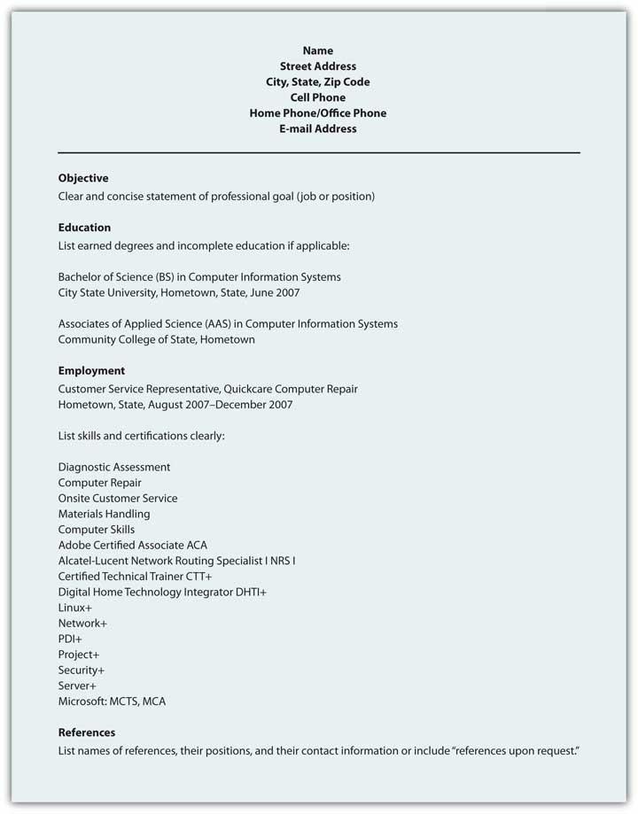 scannable resume sample