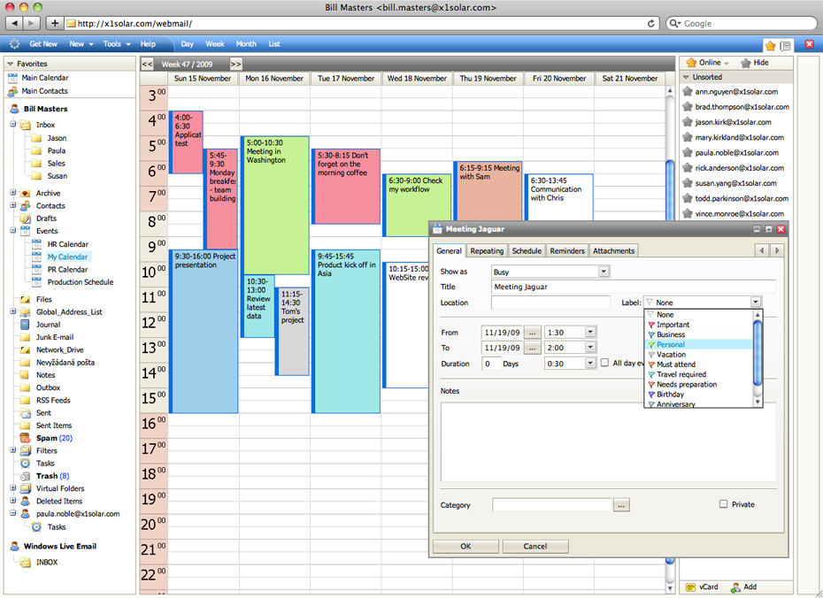 collaboration software groupware shared calendar shared - software for address book