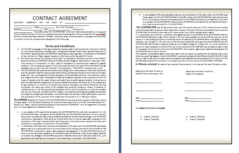 Legal Contract - legal contracts template