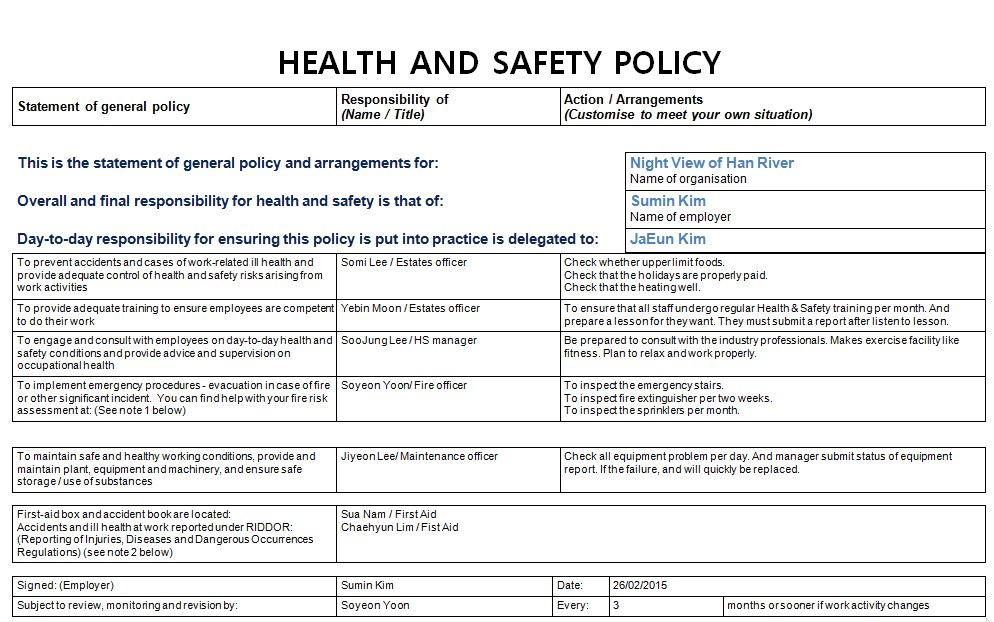 26 Health and Safety Implications Sum in Blog