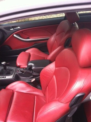 Bmw M3 E 46 Sell Used 03 Bmw E46 M3 Coupe Jet Black Imola Red Interior