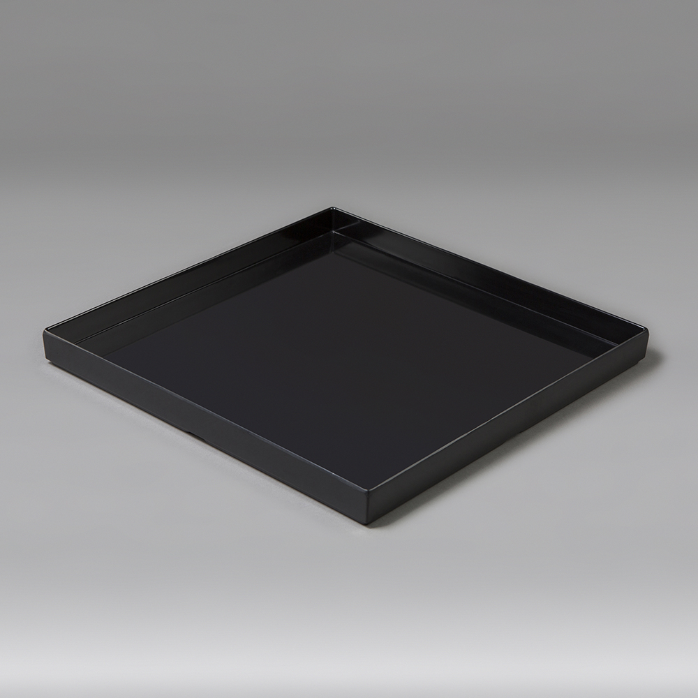 Black Serving Tray Serving Tray Square 13 Stackable Black 204 Events