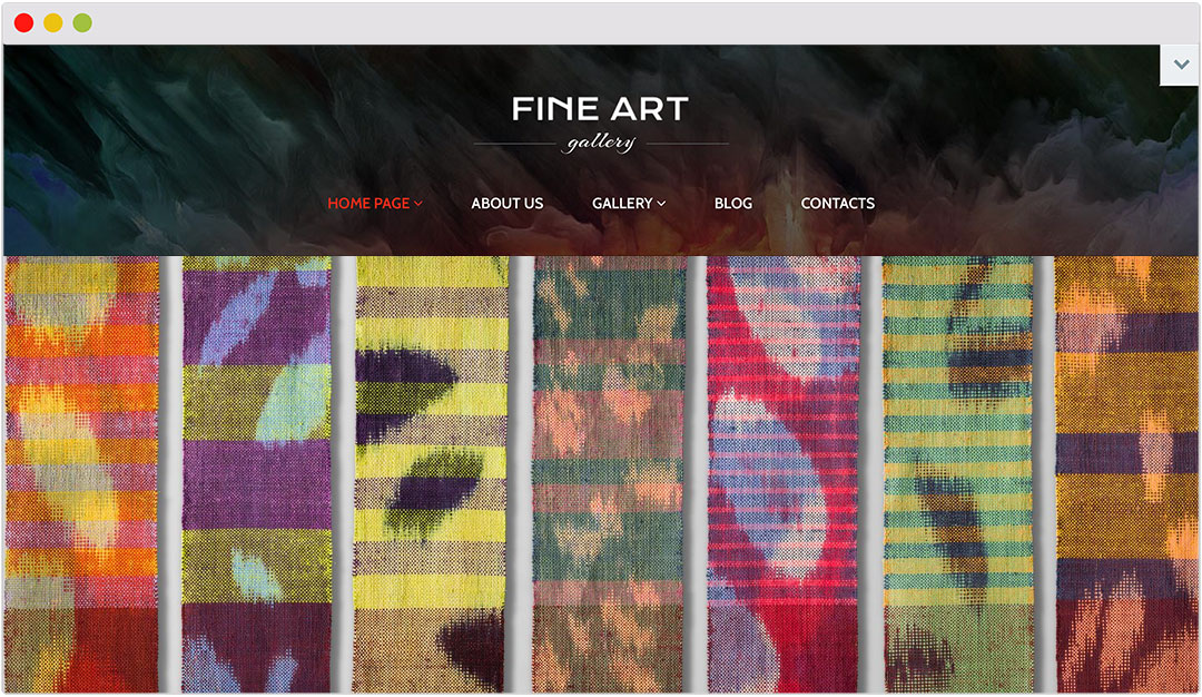 25 amazing Wordpress themes for artists - TextileArtistorg