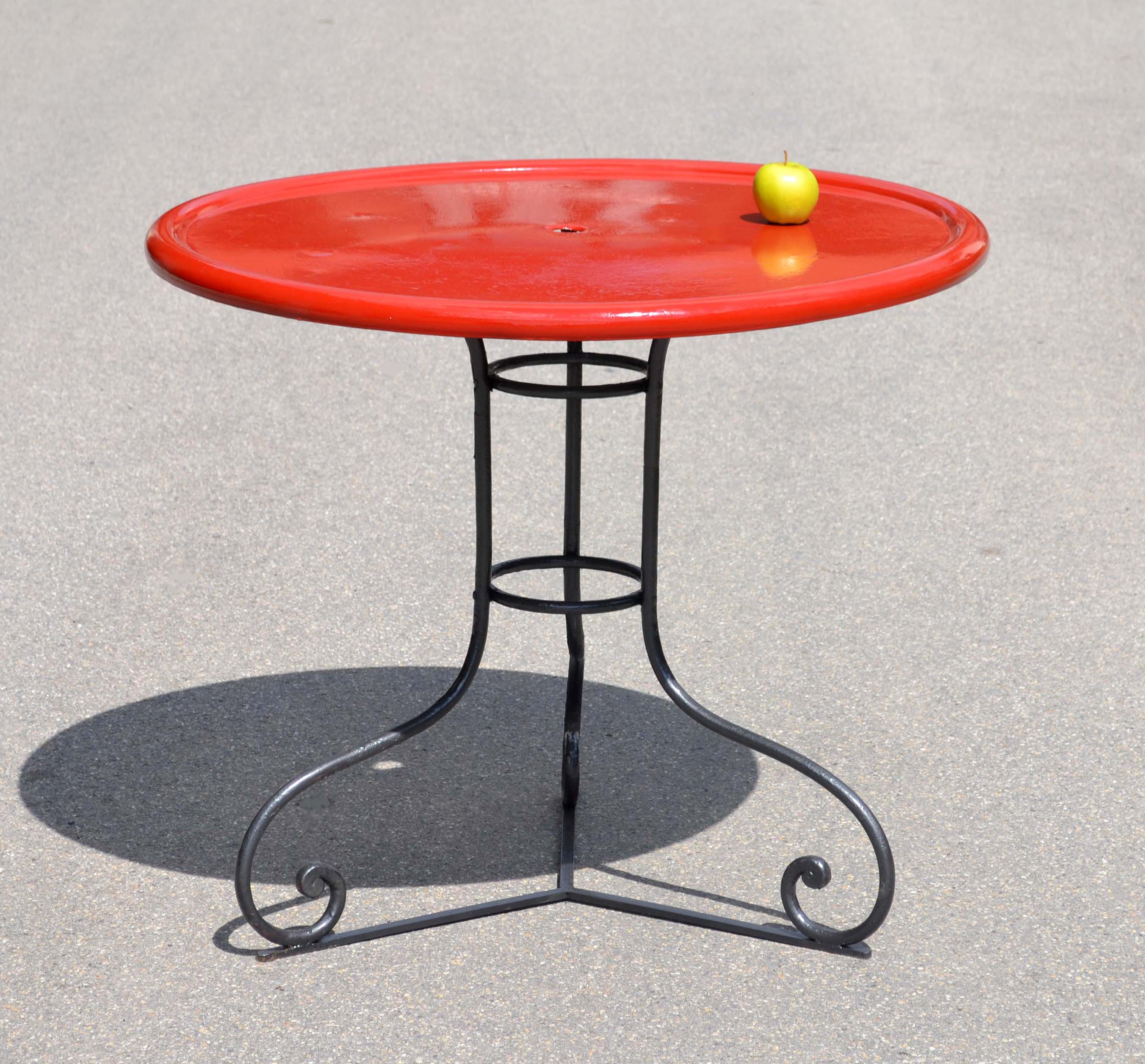 Table De Jardin Rouge Table De Jardin Rouge Salon De Jardin Table Modulo Noir